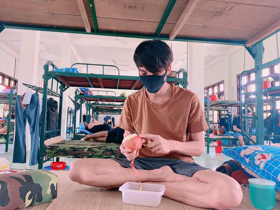 Hình ảnh Dương Thanh Vàng tại trung tâm cách ly y tế.