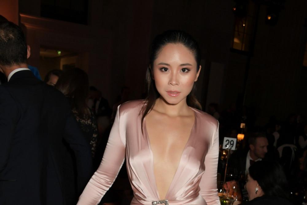 Nga Nguyễn tham dự một sự kiện thời trang gần đây tại Bảo tàng Anh ở London.