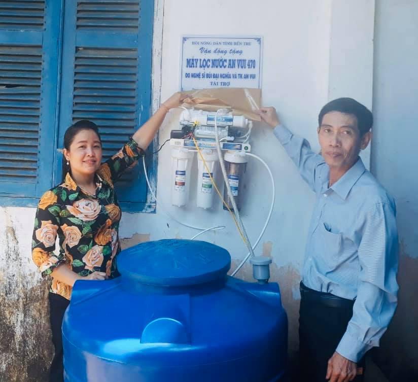 Các địa phương được nhận máy lọc nước đều được diễn viên Đại Nghĩa và các thành viên thuộc quỹ An vui khảo sát từ trước.