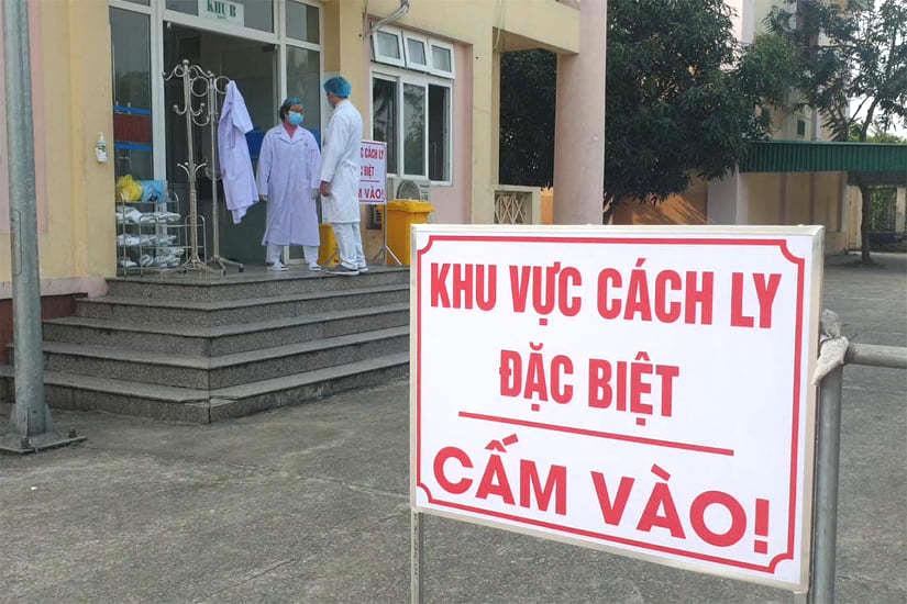 Khu vực cách ly ở Nghệ An