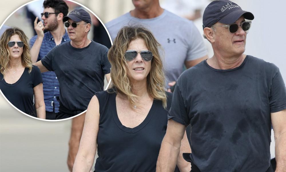 Hình ảnh Tom Hanks và vợ được chụp cách đây 4 ngày tại Úc.