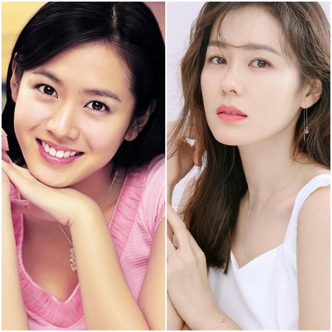 So với 20 năm về trước, nhan sắc của Son Ye Jin không thay đổi nhiều.
