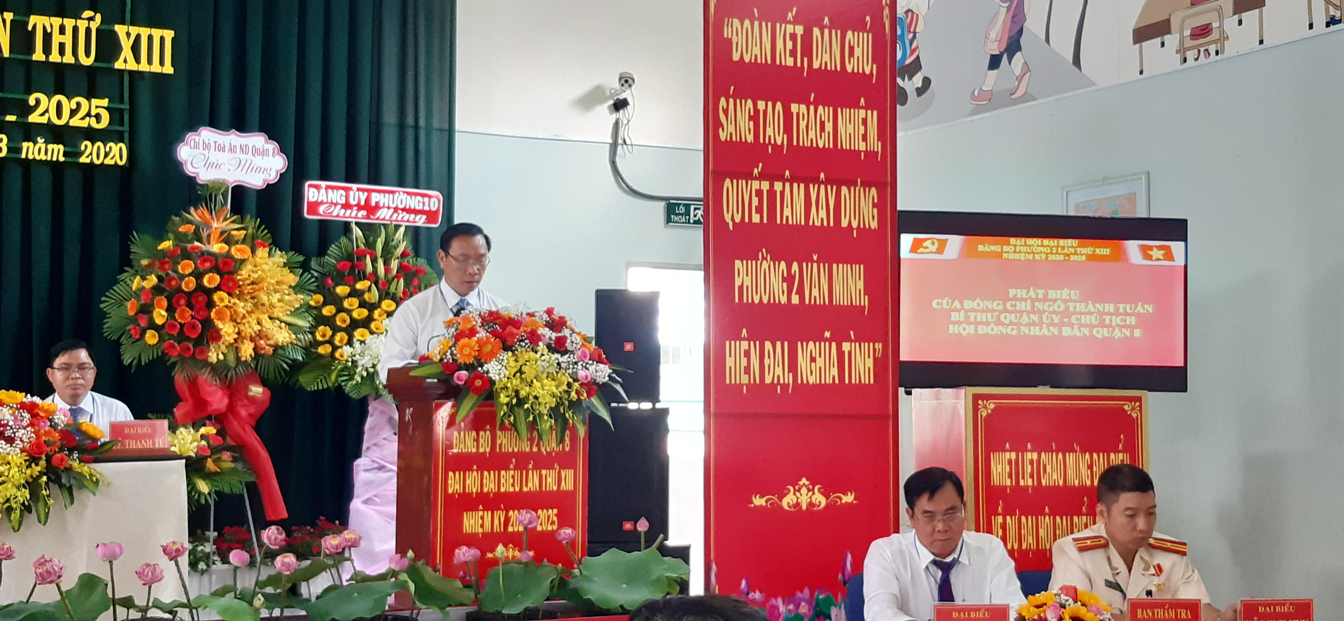 Ông Ngô Thành Tuấn phát biểu tại Đại hội