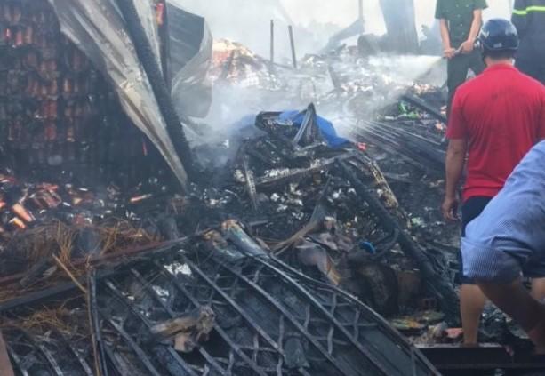 Vụ cháy thiêu rụi căn nhà và làm ông Nhị (80 tuổi) chết cháy