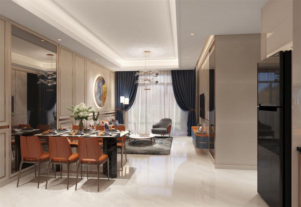 Nội thất cao cấp của căn hộ 3 phòng ngủ tại nhà mẫu dự án Opal Boulevard nằm trên trục đại lộ Phạm Văn Đồng