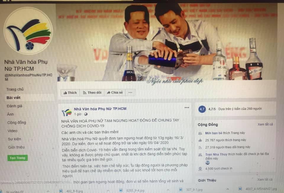 Thông báo ngưng hoạt động được đăng tải trên Fanpage