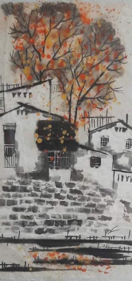 Tác phẩm Mùa đông của họa sỹ Hiền Lương