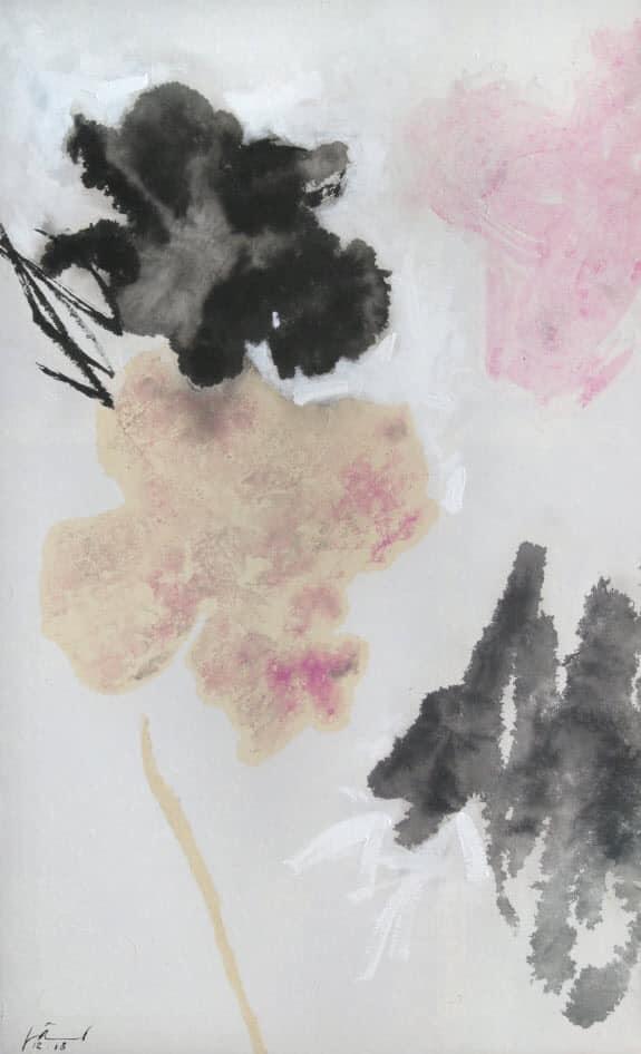 Tác phẩm Hoa của họa sỹ Doãn Hoàng Lâm