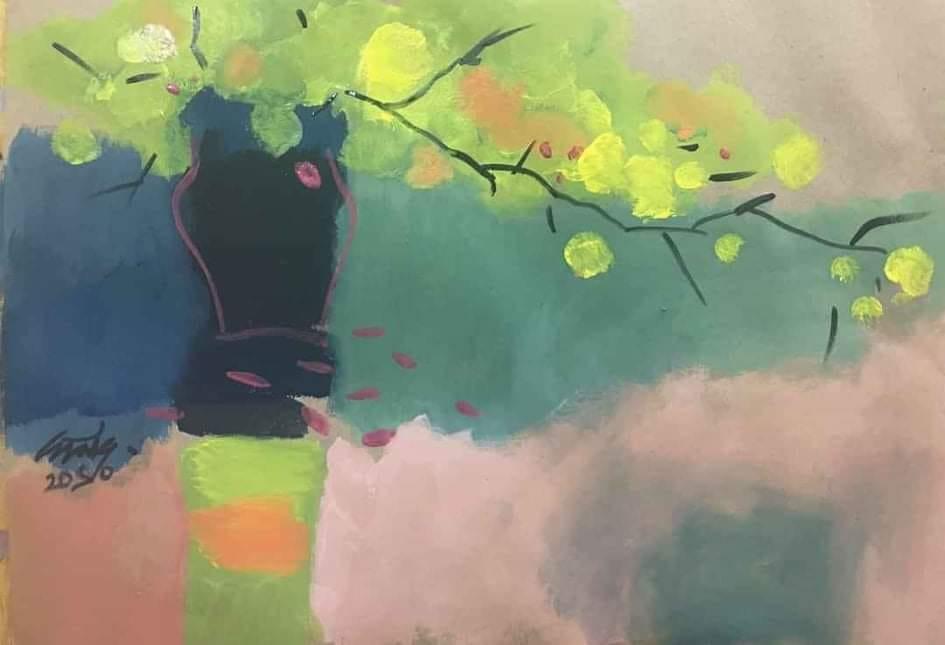Tác phẩm Mùa xuân của họa sỹ Nguyễn Ngọc Cương