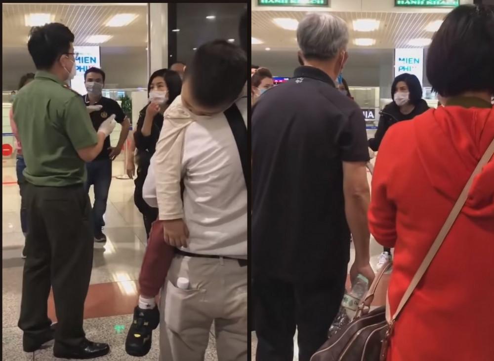 Trong lúc chờ tới lượt chở đi cách ly, nhóm người Việt trở về từ Qatar gây náo loạn tại sân bay - Ảnh chụp màn hình clip