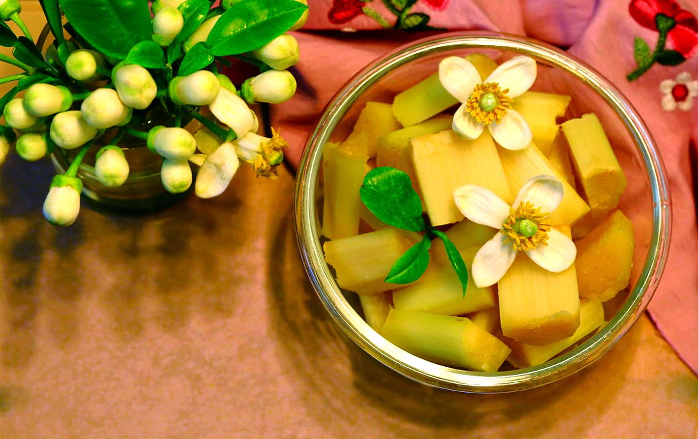 Mía ướp hoa bưởi - món ăn tuổi thơ thơm ngon