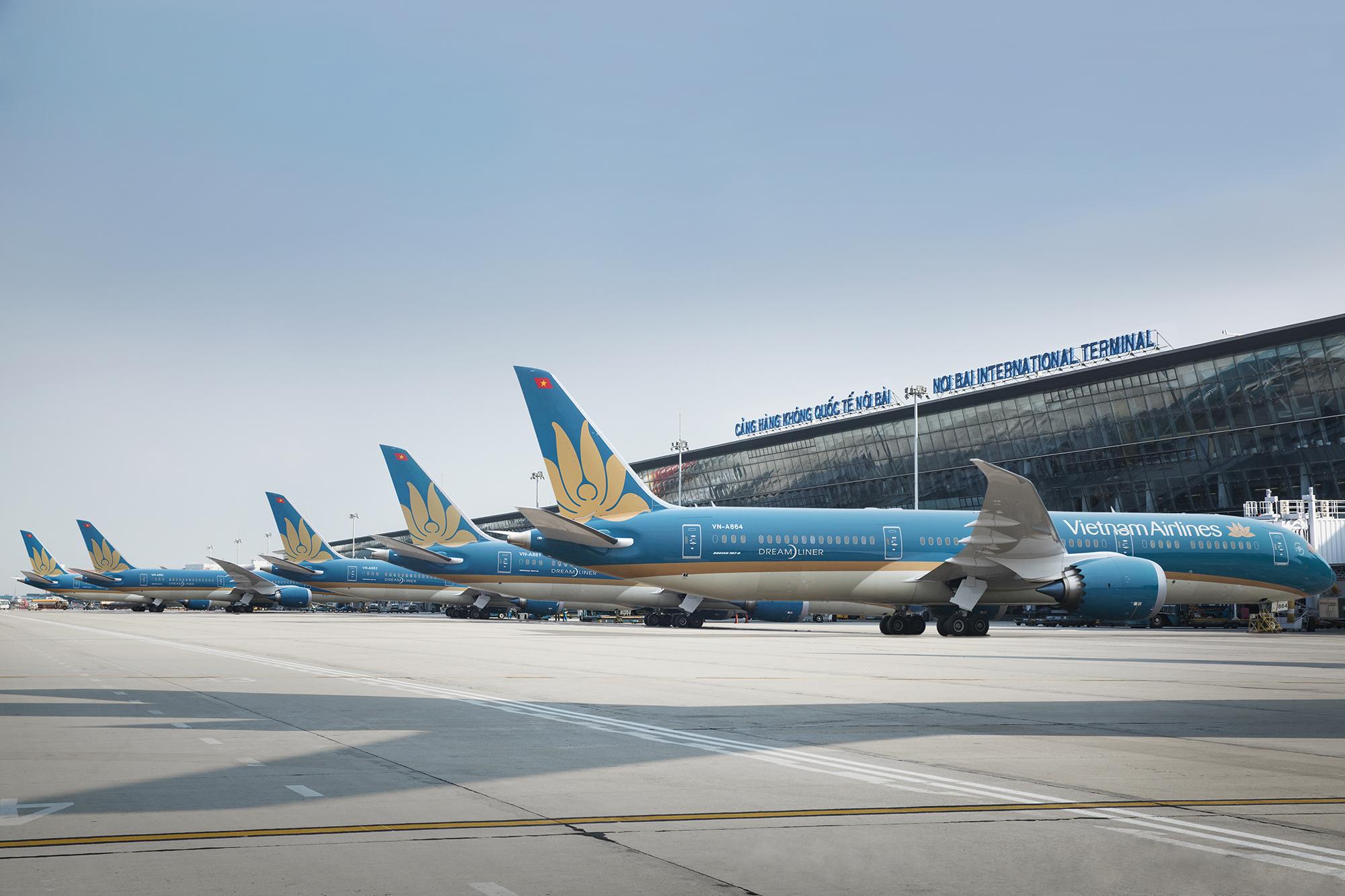 Vietnam Airlines dừng tất cả các đường bay quốc tế đến hết tháng 4/2020. Ảnh: minh hoạ