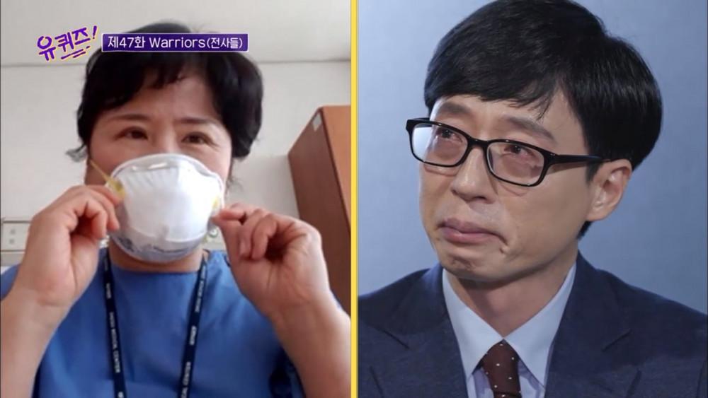 Cuộc trò chuyện với nhân viên y tế làm việc tại bệnh viện ở Daegu khiến MC Yoo Jae Suk xúc động.