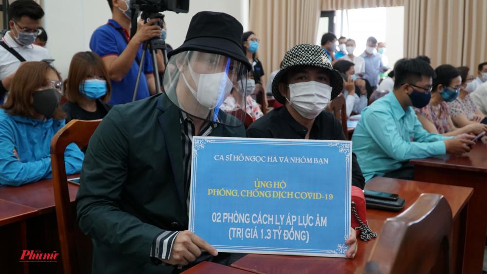 Ca sĩ Hồ Ngọc Hà và nhóm bạn đã ủng hộ 1,3 tỷ đồng (02 phòng cách ly áp lực âm)