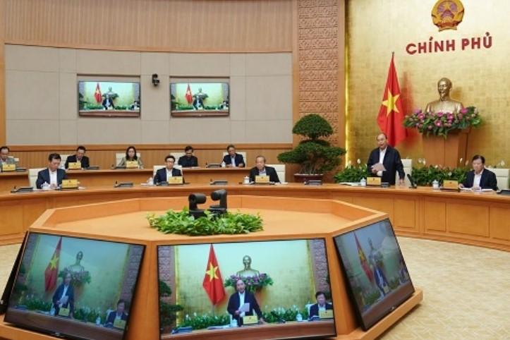 Toàn cảnh phiên họp Thường kỳ Chính phủ ngày 20/3 (Ảnh: VGP).