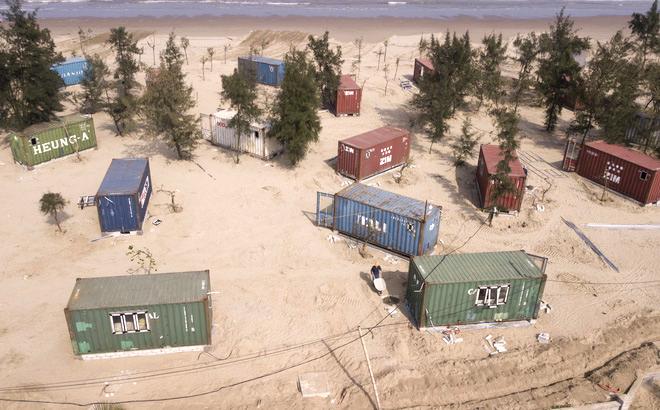 130 thùng container được lắp đặt trong rừng phòng hộ ven biển khi chưa được cấp phép