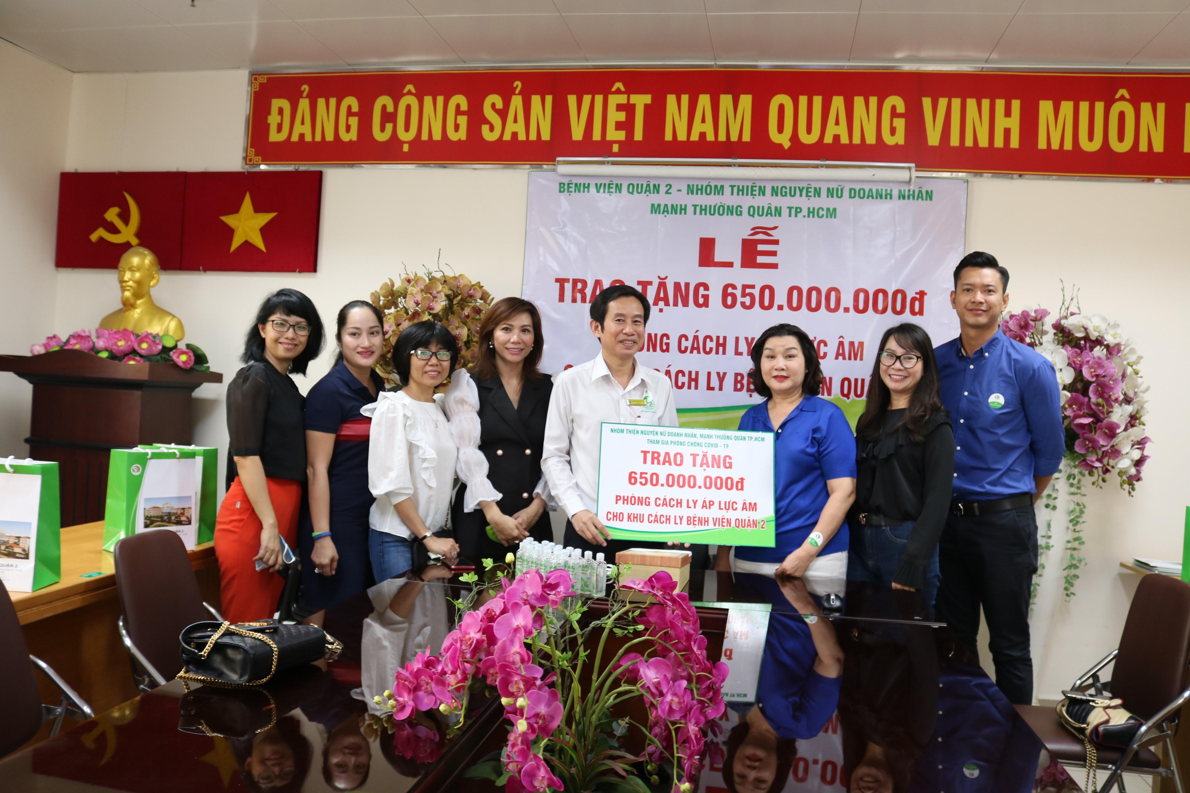 Số tiền 650 triệu đồng được các chị góp với nhau chỉ trong hai ngày, hy vọng hỗ trợ Bệnh viện  trong quá trình cách ly, điều trị bệnh nhân nhiễm hoặc nghi nhiễm COVID-19.