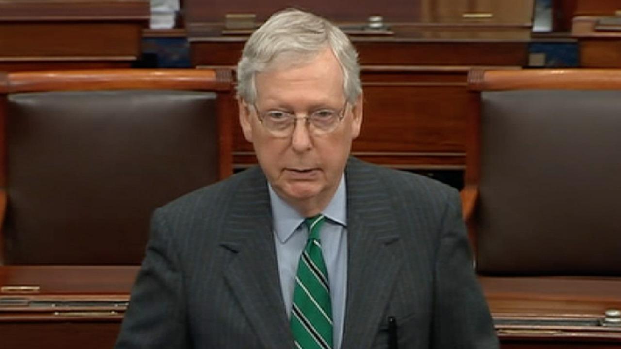 Thủ lĩnh phe đa số Thượng viện McConnell giận dữ lên án các TNS Dân chủ đã phá hỏng cuộc bỏ phiếu - Ảnh: Fox News