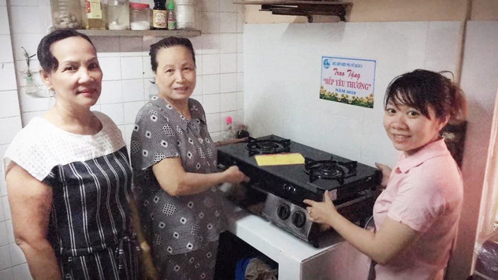 Góc bếp yêu thương của gia đình chị Phạm Thúy Lan