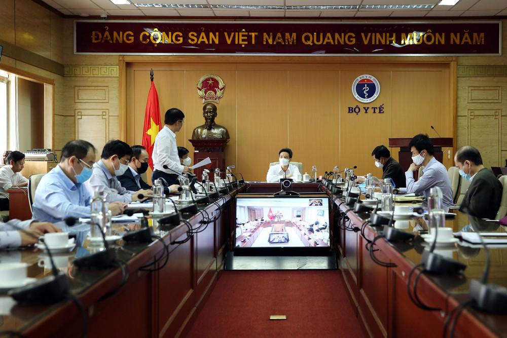 Toàn cảnh cuộc họp trực tuyến của Ban chỉ đạo Quốc gia phòng, chống dịch COVID-19.