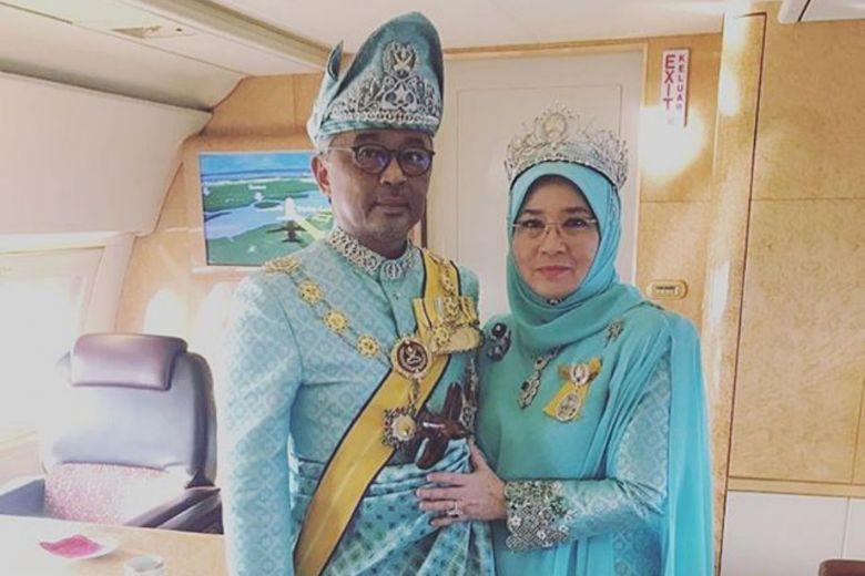 Quốc vương và Hoàng hậu Malaysia. Ảnh: The Straits Times