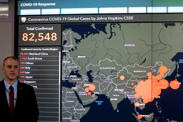 Mỹ đã vượt Ý, Trung Quốc, trở thành quốc gia có nhiều ca nhiễm COVID-19 nhất thế giới