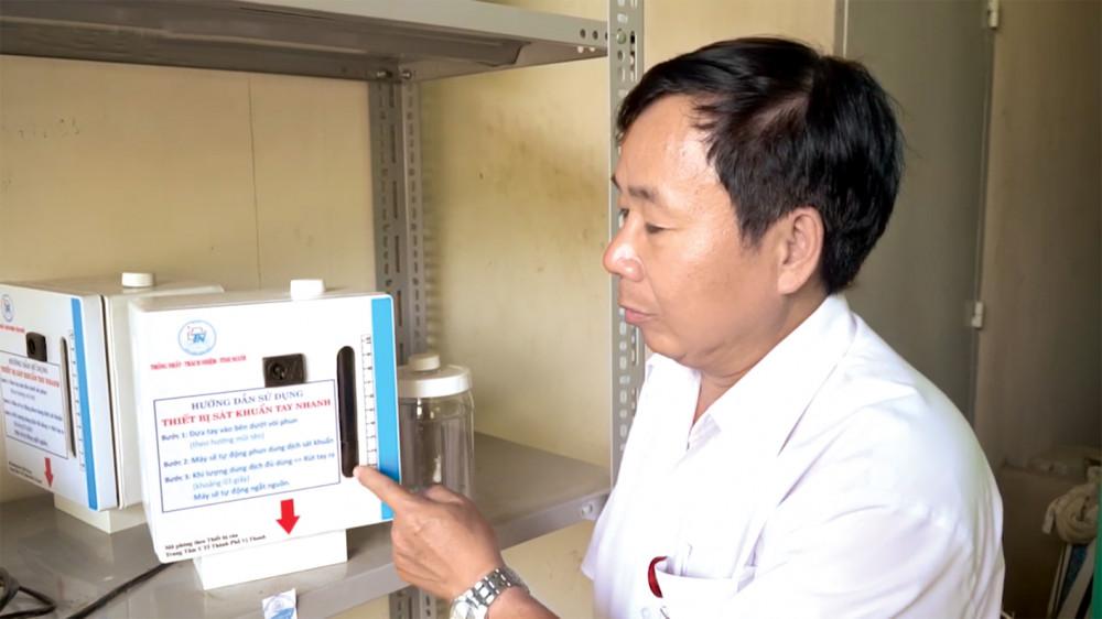 Chiếc máy rửa tay được cải tiến và sản xuất bởi Bệnh viện Thống Nhất