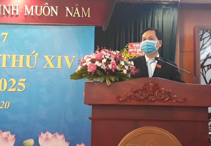Ông Nguyễn Quốc Thái phát biểu tại đại hội
