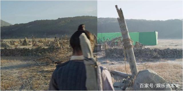 Bên trái là hình ảnh sau khi sử dụng VFX (hiệu ứng hình ảnh) và bên phải là hình ảnh trước khi xử lý.