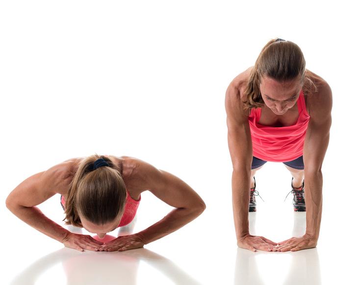Chống đẩy Chống đẩy là một bài tập tổng hợp cho toàn bộ phần trên cơ thể, tập trung vào cơ ngực.