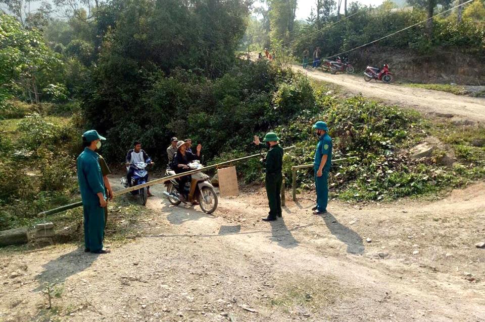 Hơn 60 chốt đã được lập chốt chặn tại các đường mòn, lối mở dọc biên giới Việt - Lào