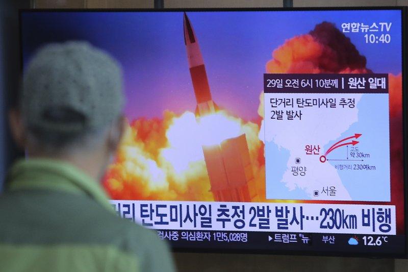 Triều Tiên lại bắn thử tên lửa khi thế giới đang dồn sức chống dịch COVID-19 - Ảnh: AP