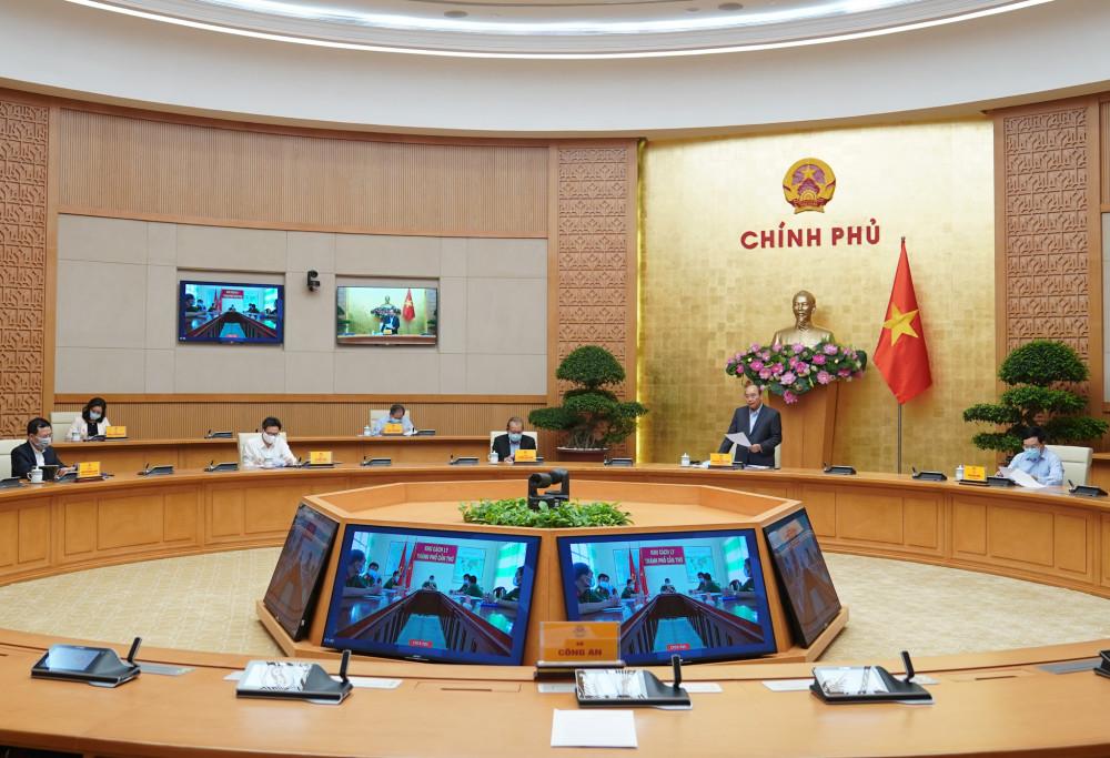 Cuộc họp của Thủ tướng với 5 tỉnh thành trực thuộc TW sáng 29/3 về tình hình COVID-19