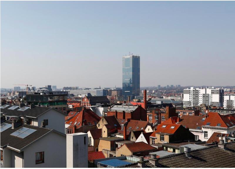 Không khí trong lành của Brussels, Bỉ vào ngày 27/3