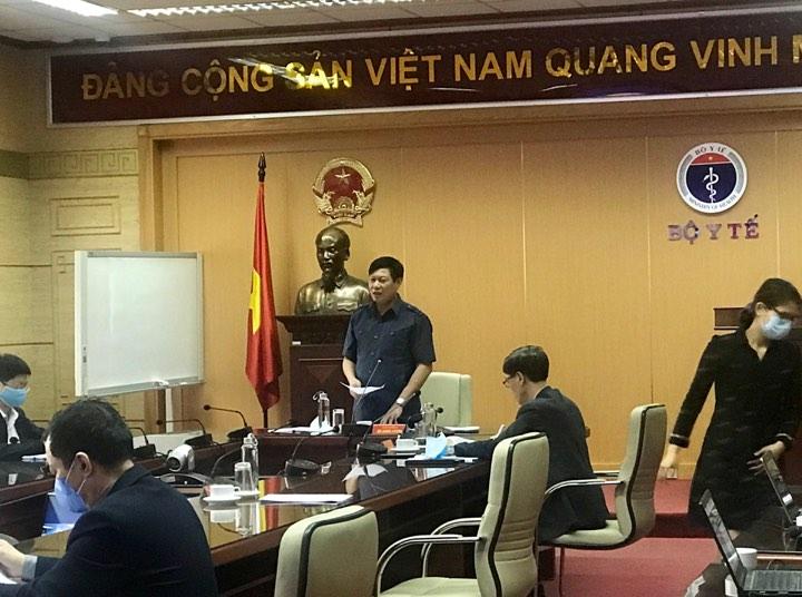 Thứ trưởng Đỗ Xuân Tuyên tại cuộc họp trực tuyến.