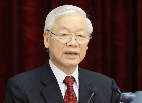 Tổng bí thư, Chủ tịch nước Nguyễn Phú Trọng kêu gọi toàn dân chung sức chống đại dịch - Ảnh TTX