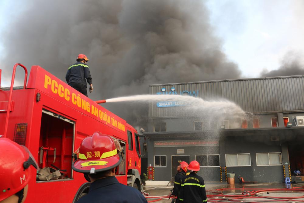 Hiện trường vụ cháy. ảnh: PC07