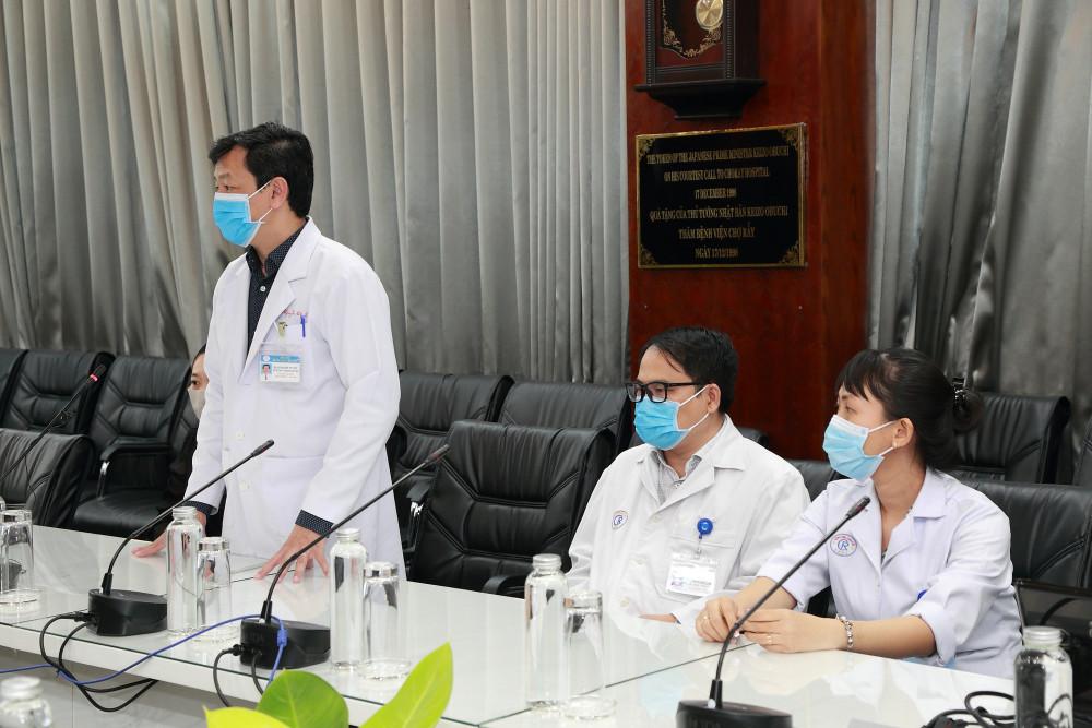 Bác sĩ CKII Nguyễn Tri Thức, Giám đốc Bệnh viện Chợ Rẫy phát biểu tại buổi lễ
