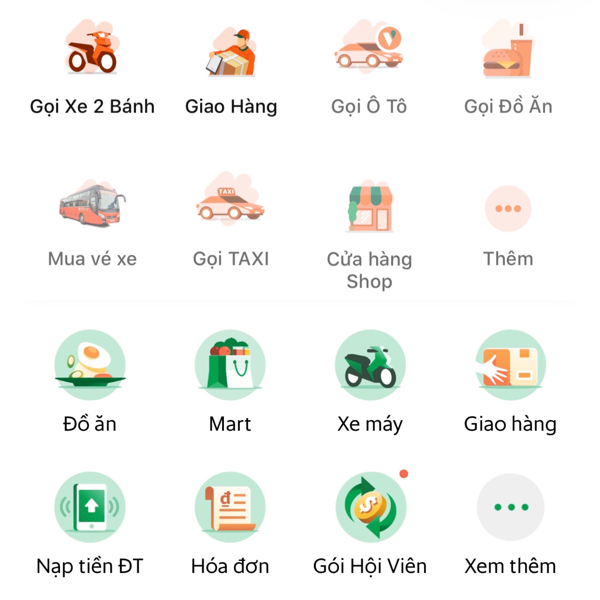 Nhiều ứng dụng gọi xe tại Việt Nam ẩn dịch vụ xe 4 bánh, xe đi tỉnh, mua vé xe,