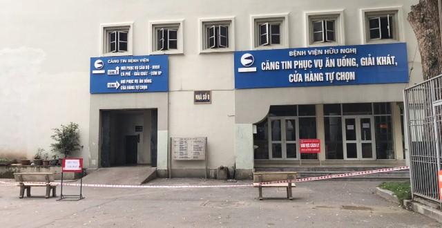 Khu vực bếp ăn của bệnh viện Hữu Nghị, nơi có nhân viên của Công ty Trường Sinh làm việc đã được cách ly