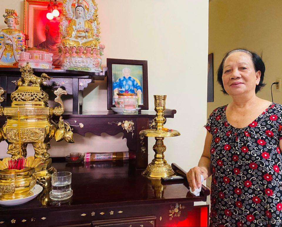 Bà Dương Thị Chót ở xã Bà Điểm, huyện Hóc Môn