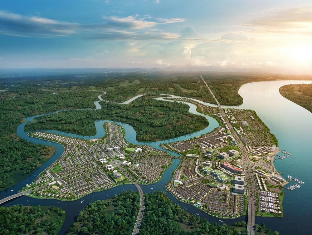 Khu đô thị sinh thái thông minh Aqua City với quy mô hơn 600ha nằm nằm ở phía Đông TP.HCM. Dự án được bao bọc bởi hệ thống sông lớn, dành hơn 70% diện tích cho mảng xanh, hạ tầng giao thông và tiện ích đẳng cấp