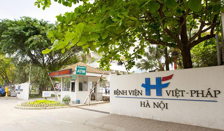 Bệnh viện Việt Pháp là một trong những nơi khám chữa cho bệnh nhân 237.