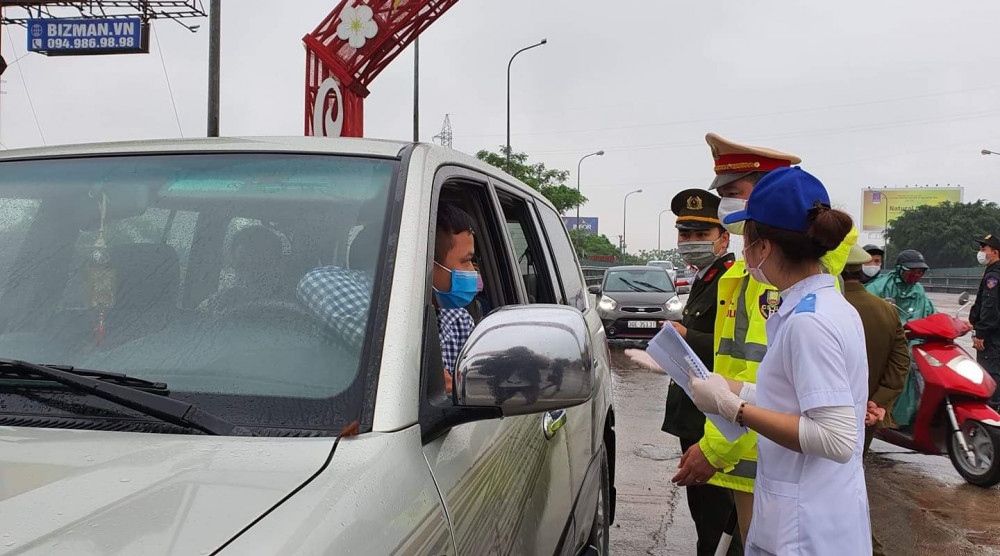 Trước đó tại Thái Bình cũng tiến hành kiểm soát phương tiện từ vùng có dịch vào thành phố.