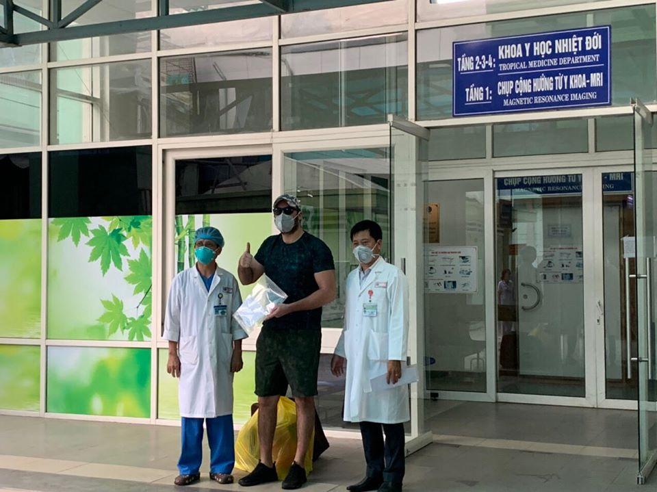 Tại Bệnh viện Đà Nẵng bệnh nhân người Mỹ được công bố khỏi bệnh.