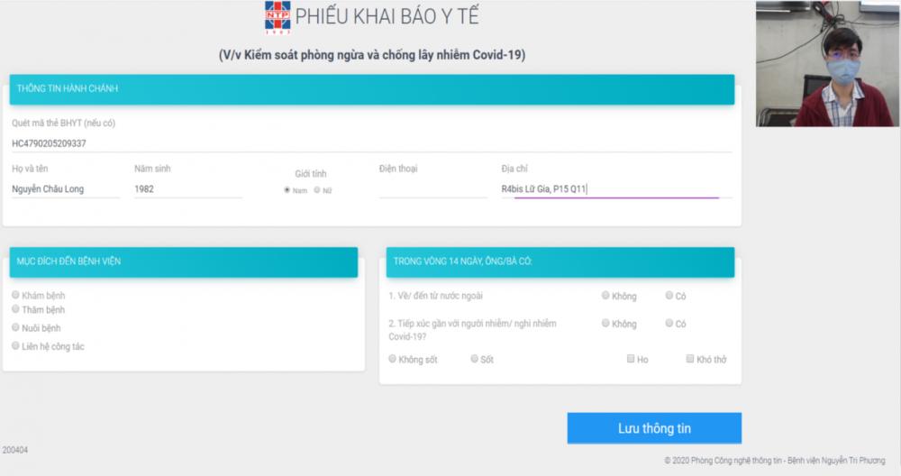 Người khai báo có thẻ BHYT chỉ cần quét thẻ thay cho nhập dữ liệu phần hành chánh