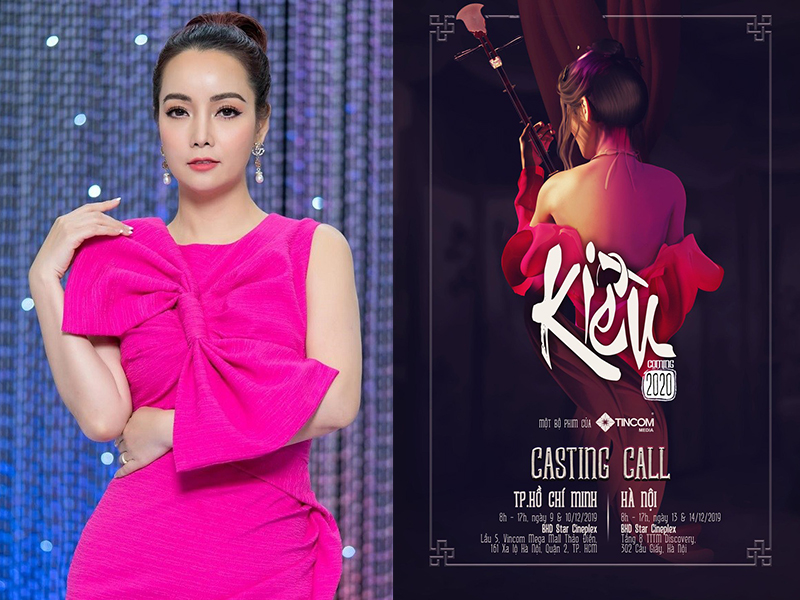 Đạo diễn, nhà sản xuất Mai Thu Huyền và hình ảnh quảng bá phim Kiều.