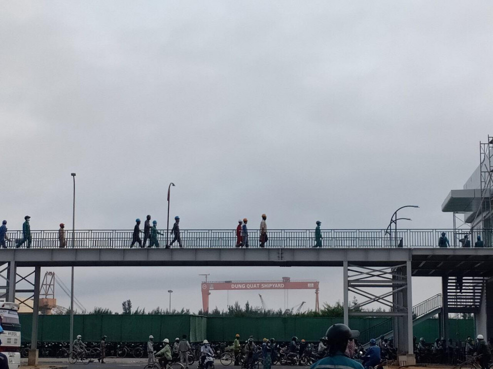 Sau khi tỉnh Quảng Ngãi yêu cầu chấn chỉnh, Hòa Phát đã thực hiện việc giãn cách đảm bảo an toàn y tế cho công nhân