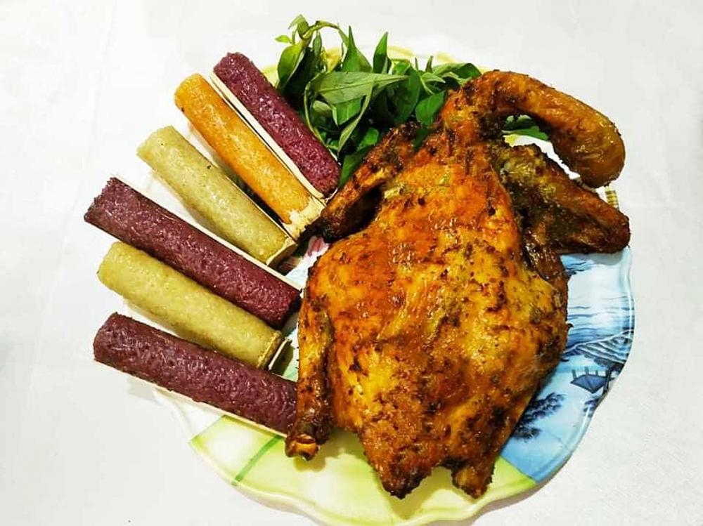 Hình ảnh cơm lam gà nướng