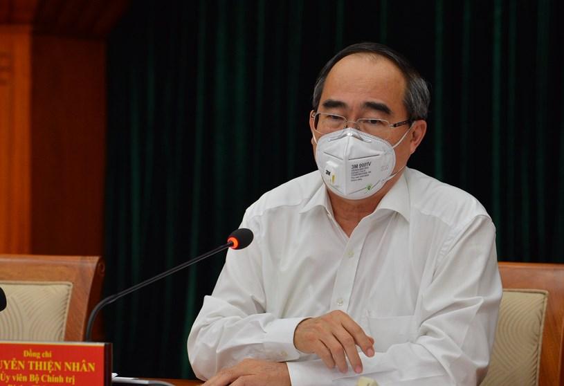 Bí thư Nguyễn Thiện Nhân phát biểu chỉ đạo công tác phòng chống dịch COVID-19 chiều 8/4/2020